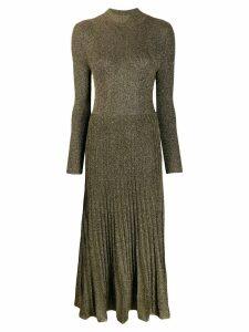 Sandro Paris shimmer long pleated dress - Green