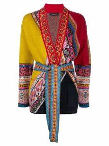 Etro tie waist cardigan - Red