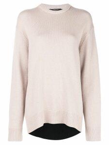 Derek Lam Oversized Contrast Back Cashmere Sweater - Brown