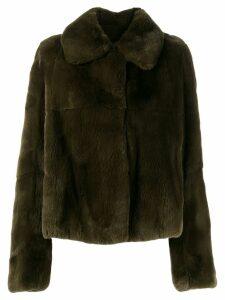 Yves Salomon Rabbit Rex jacket - Green