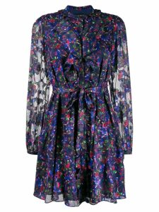 Saloni floral day dress - Blue