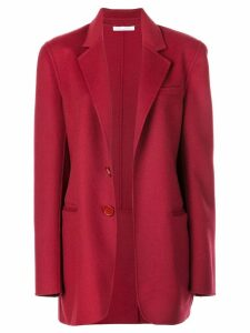 Oscar de la Renta single breasted blazer - Red