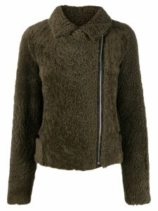 Yves Salomon Meteo shearling short jacket - Green