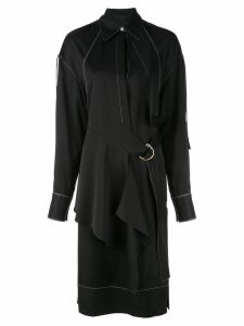 Proenza Schouler Top Stitched Shirt Dress - Black