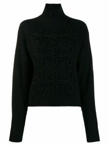 Karl Lagerfeld soutache detail jumper - Black