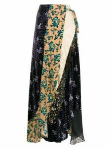 Chloé patchwork wrap skirt - Neutrals