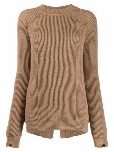 Stefano Mortari ribbed knit sweater - Neutrals