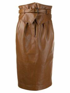 Alberta Ferretti corset-style midi skirt - Brown