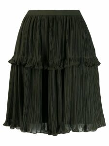 Kenzo ruffle trim pleated skirt - Green