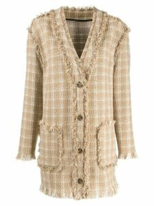 MSGM checked tweed jacket - Neutrals