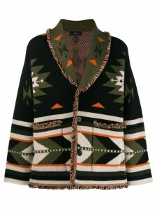 Alanui patterned cardi-coat - Green