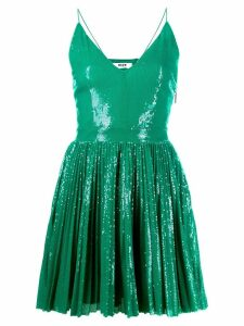 MSGM sequin embroidered mini dress - Green