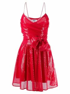 MSGM sequin embroidered bow detail dress