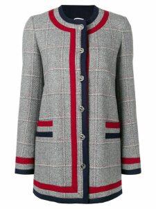 Thom Browne Frame Detail Hunting Tweed Jacket - Grey