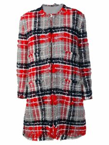 Thom Browne RWB Oversized Tweed Overcoat - Red