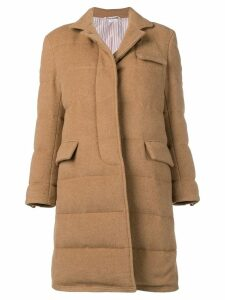 Thom Browne Camel Down Filled Overcoat - Neutrals