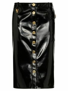Versace high-rise vinyl pencil skirt - Black