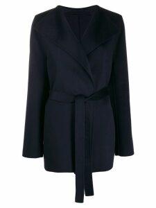 Joseph Lima tie-waist coat - Blue