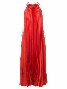 Stella McCartney pleated max halter dress - Orange