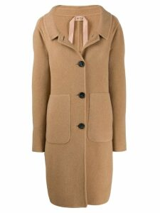 Nº21 open collar coat - Neutrals