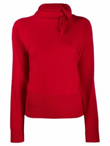 Cédric Charlier tie neck sweater - Red
