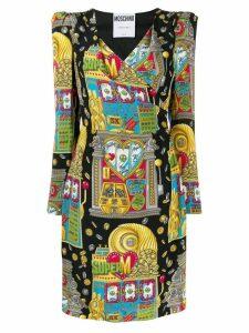 Moschino casino print dress - Black