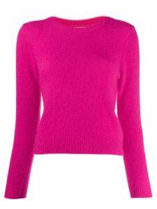 Bellerose round neck fuzzy knit sweater - Pink
