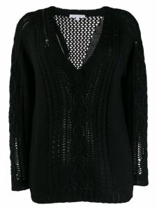 Patrizia Pepe v-neck knit jumper - Black