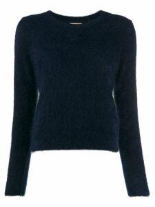 Bellerose round neck fuzzy knit jumper - Blue