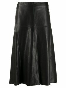 Arma Al-line leather skirt - Black