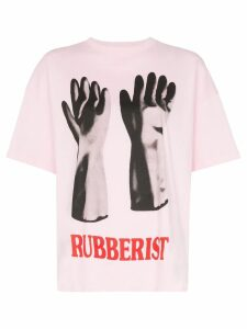 Christopher Kane Rubberised glove print T-shirt - Pink