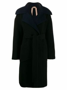 Nº21 oversized collar coat - Blue