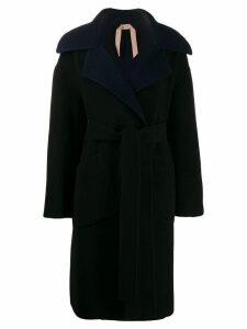Nº21 oversized collar coat - Blue