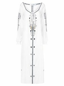 The Upside embroidered kaftan dress - White