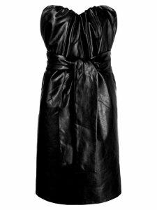 MSGM gathered strapless dress - Black