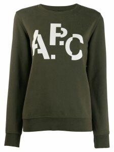 A.P.C. distorted logo jumper - Green