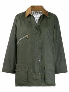 Barbour x Alexa Chung contrast-collar coat - Green