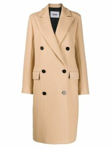 MSGM double breasted coat - Neutrals