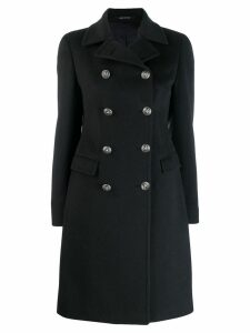 Tagliatore double-breasted cashmere coat - Blue