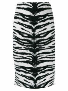 Laneus zebra print skirt - Neutrals
