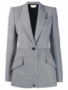 Alexander McQueen patchwork checked blazer - Black