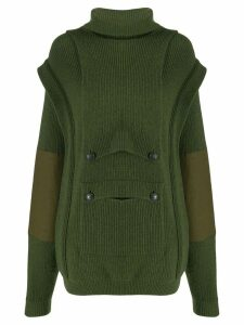 Stella McCartney layered pocket jumper - Green
