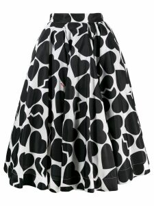 MSGM heart shape print skirt - Black