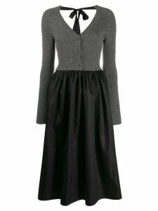 Prada ribbed cardi-top dress - Black