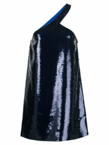 Saint Laurent sequin embroidered asymmetrical dress - Blue