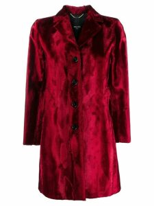 Paltò textured button-up coat