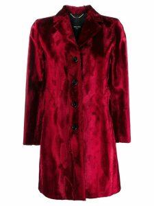 Paltò textured button-up coat