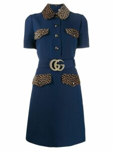 Gucci GG belt short dress - Blue