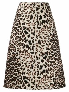 Prada animal print A-line skirt - Neutrals