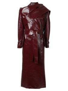 Aleksandre Akhalkatsishvili scarf-detail trench coat - Red